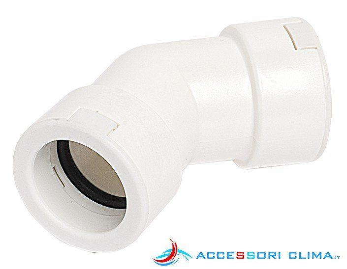 Curva 45° per tubo di scarico condensa rigido