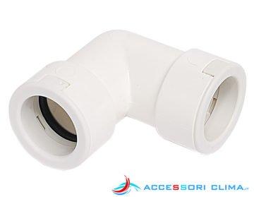 Curva 90° per tubo di scarico condensa rigido